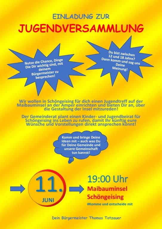 Einladung zur Jugendversammlung