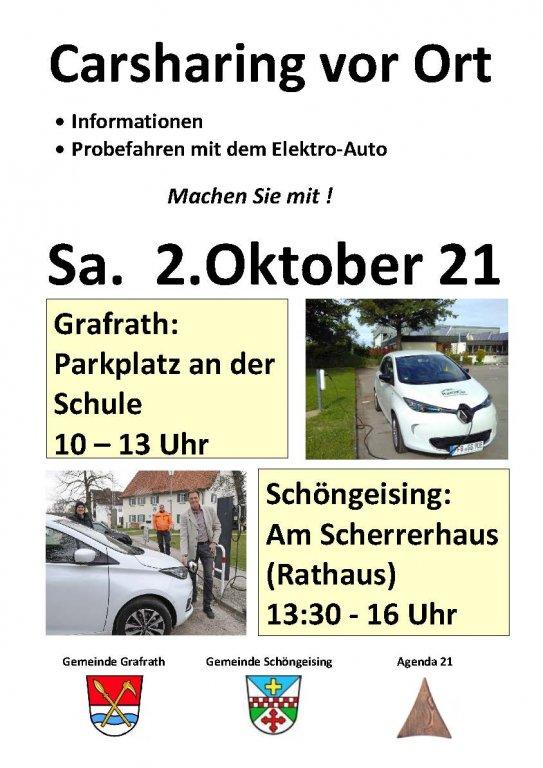 Carsharing Grafrath Schöngeising Okt 21